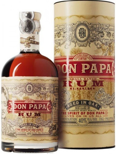 Don Papa, Small Batch Rum in Box 0,7L